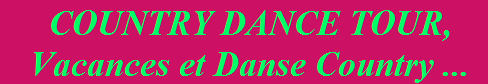 Country dance tour vacances et danse country